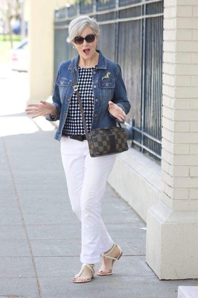 Wearing-denim.-4 110+ Elegant Outfit Ideas for Women Over 60