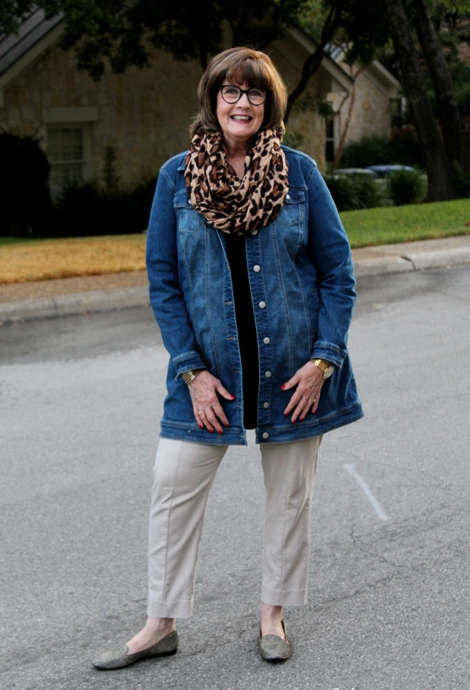 Wearing-denim. 110+ Elegant Outfit Ideas for Women Over 60