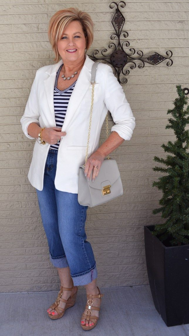 blazer-and-jeans.-2 80+ Fabulous Outfits for Women Over 50