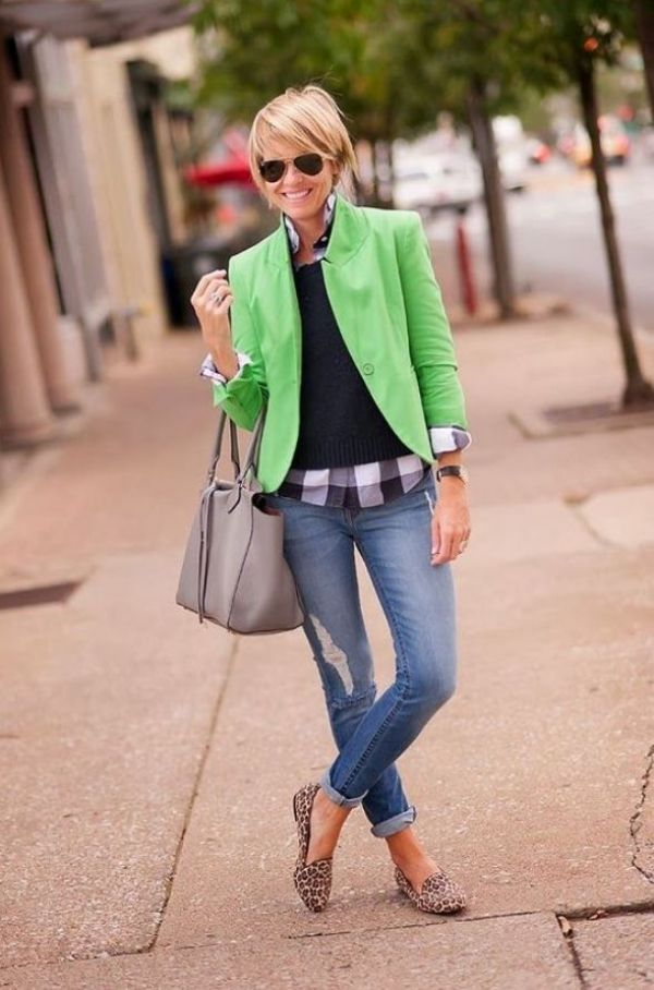 blazer-and-jeans. 80+ Fabulous Outfits for Women Over 50