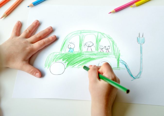 car-675x478 Top 10 Easiest Drawing Ideas for Kids