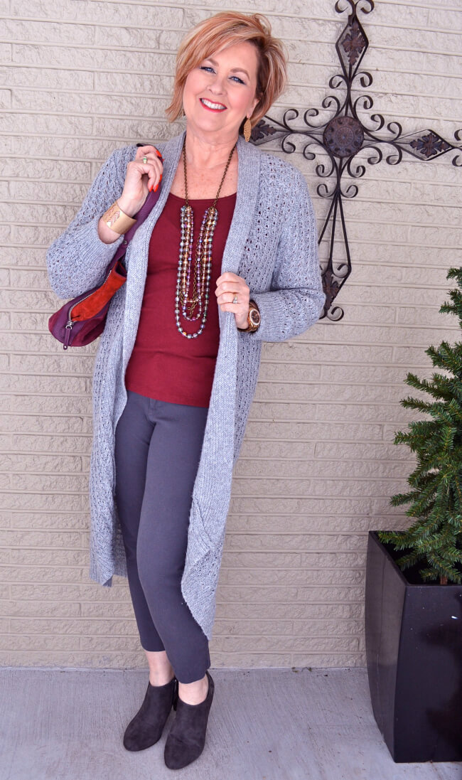 cardigan. 110+ Elegant Outfit Ideas for Women Over 60