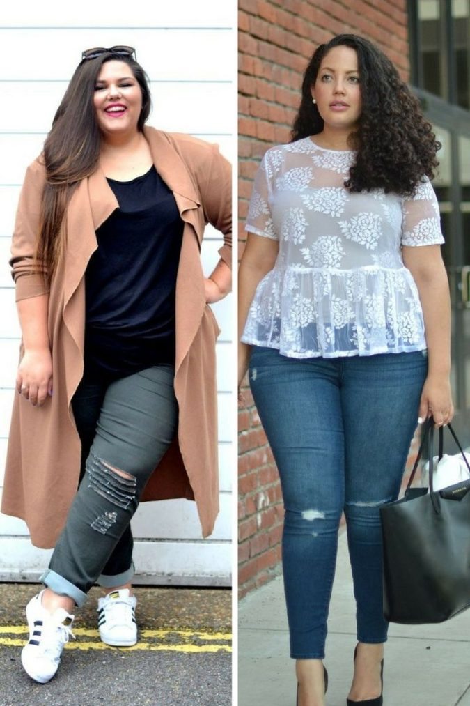 distressed-jeans..-2-675x1013 70+ Stylish Plus-Size Fashion Trends in 2021