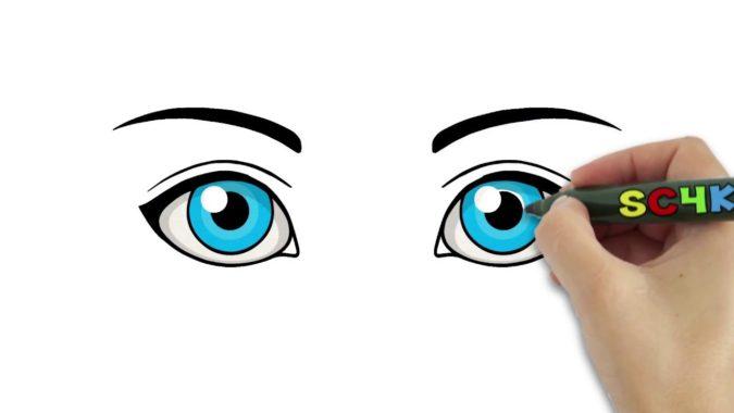 eyes-675x380 Top 10 Easiest Drawing Ideas for Kids