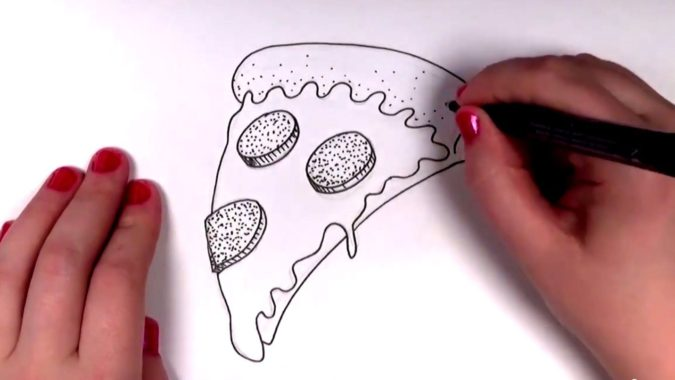 pizza-675x380 Top 10 Easiest Drawing Ideas for Kids