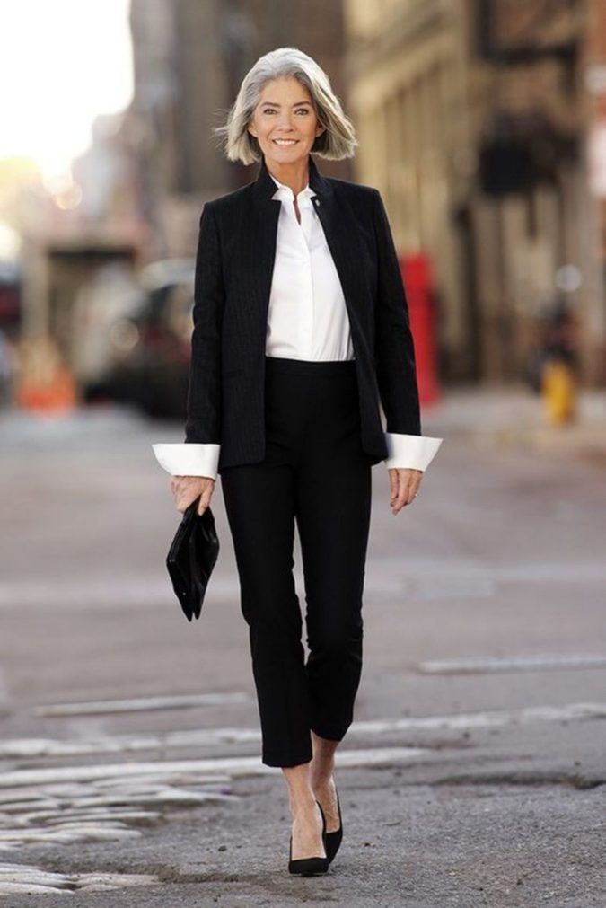 suit.-675x1011 110+ Elegant Outfit Ideas for Women Over 60