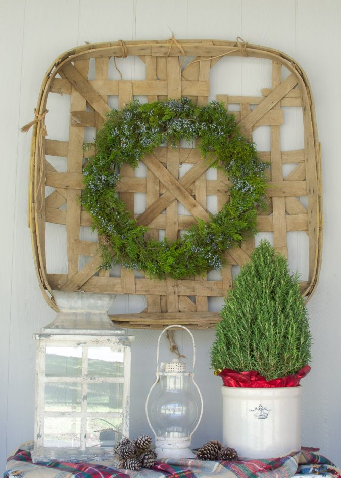 A-vintage-tobacco-basket-2-675x945 60+Untraditional Christmas Decorations to Transform Your Home Look This Year