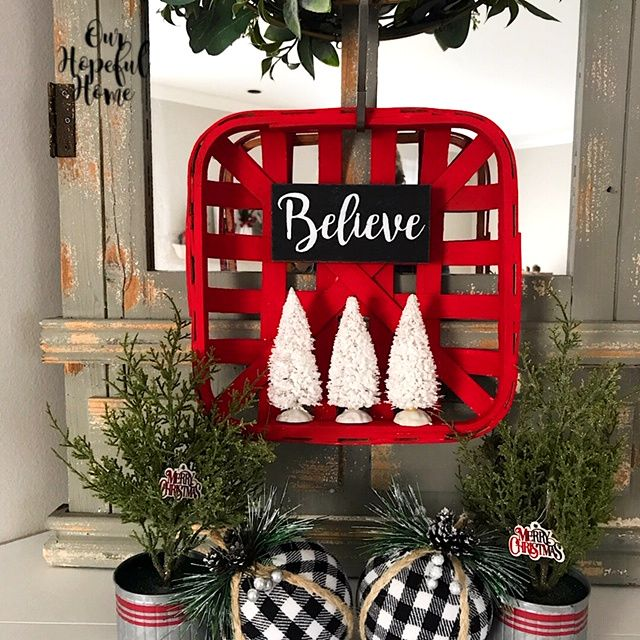 A-vintage-tobacco-basket-3 60+Untraditional Christmas Decorations to Transform Your Home Look This Year