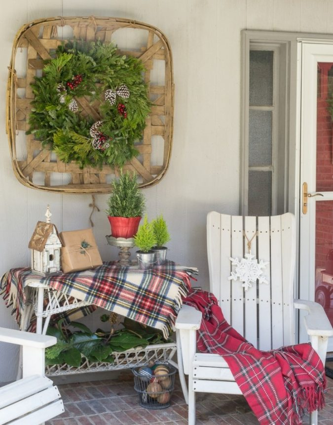 A-vintage-tobacco-basket-675x860 60+Untraditional Christmas Decorations to Transform Your Home Look This Year