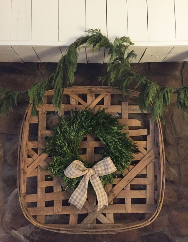 A-vintage-tobacco-basket.-1 60+Untraditional Christmas Decorations to Transform Your Home Look This Year