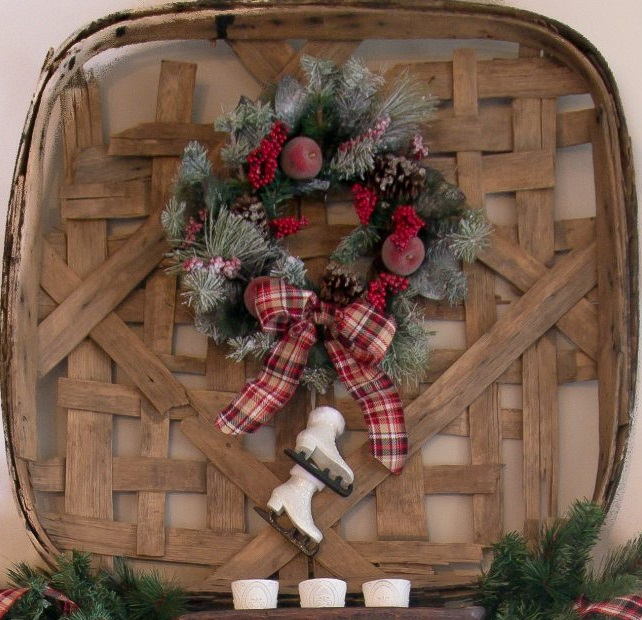 A-vintage-tobacco-basket.-2 60+Untraditional Christmas Decorations to Transform Your Home Look This Year