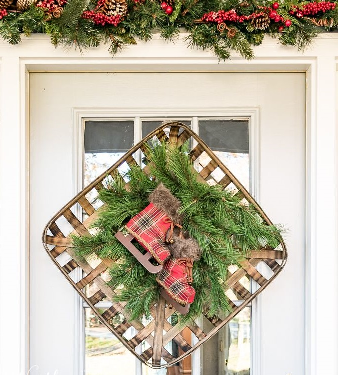 A-vintage-tobacco-basket... 60+Untraditional Christmas Decorations to Transform Your Home Look This Year