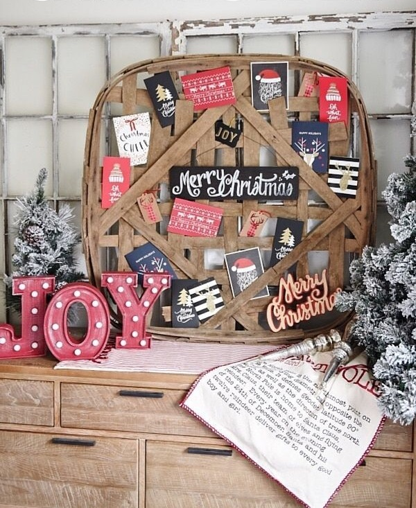 A-vintage-tobacco-basket 60+Untraditional Christmas Decorations to Transform Your Home Look This Year