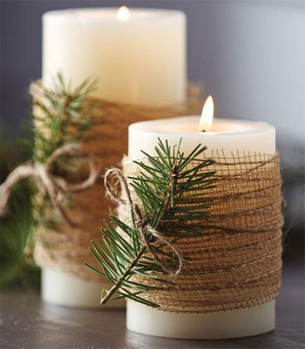 Candles.-1 60+ Creative Ways to Decorate Your Home for This Christmas