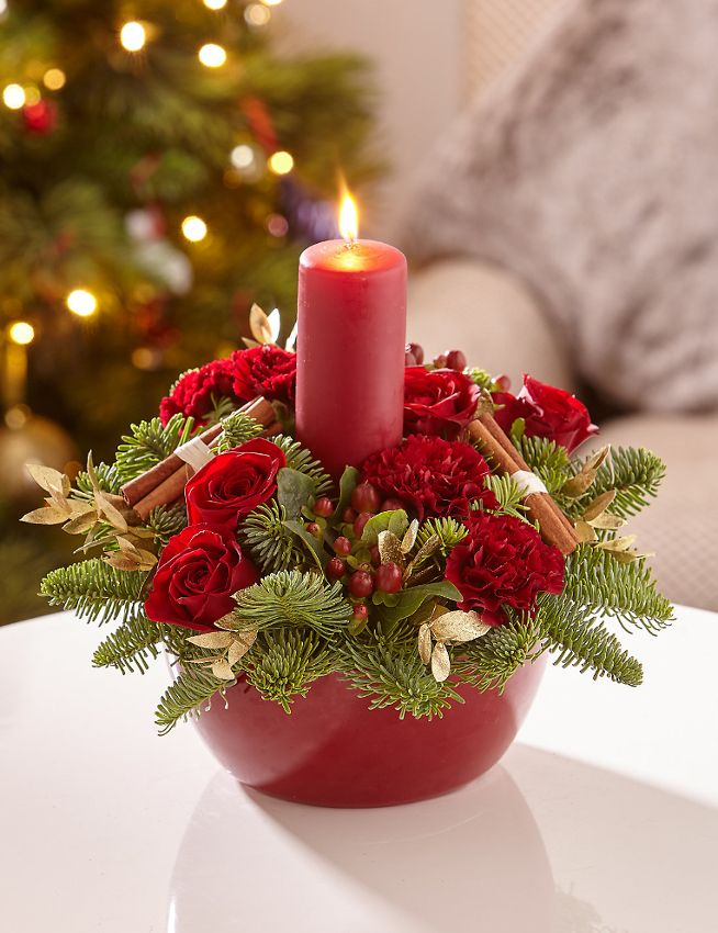 Candles.-7 60+ Creative Ways to Decorate Your Home for This Christmas