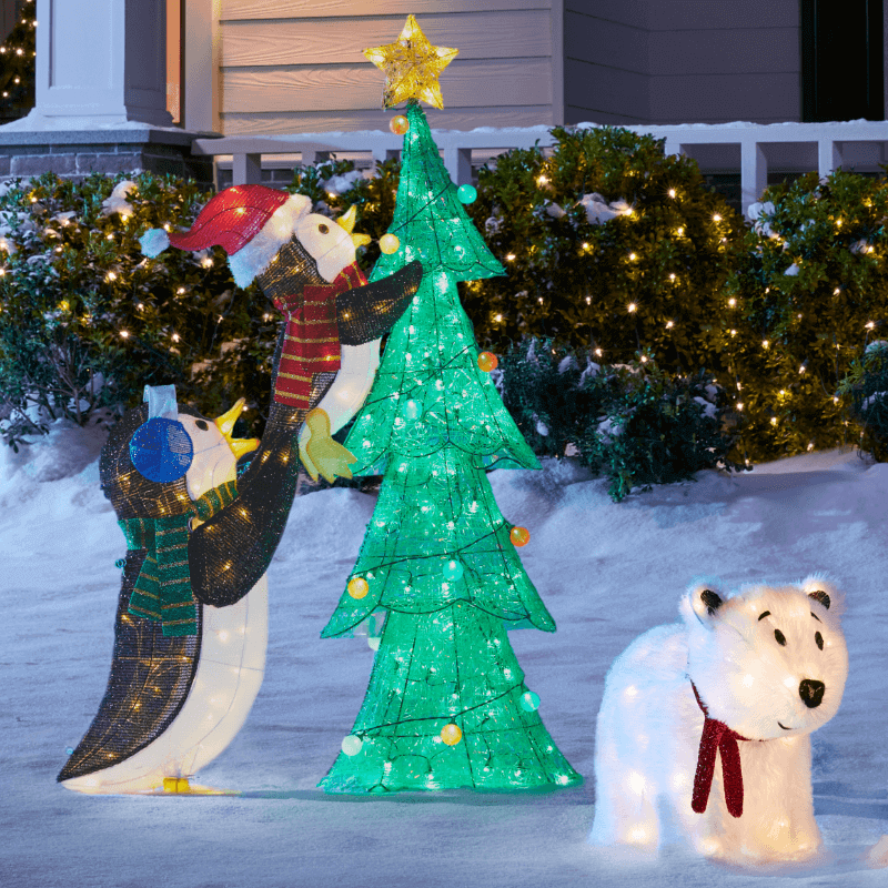 Christmas-light-decorations. Let Your Outdoor Area Twinkle by This Year Christmas Lights Decorations