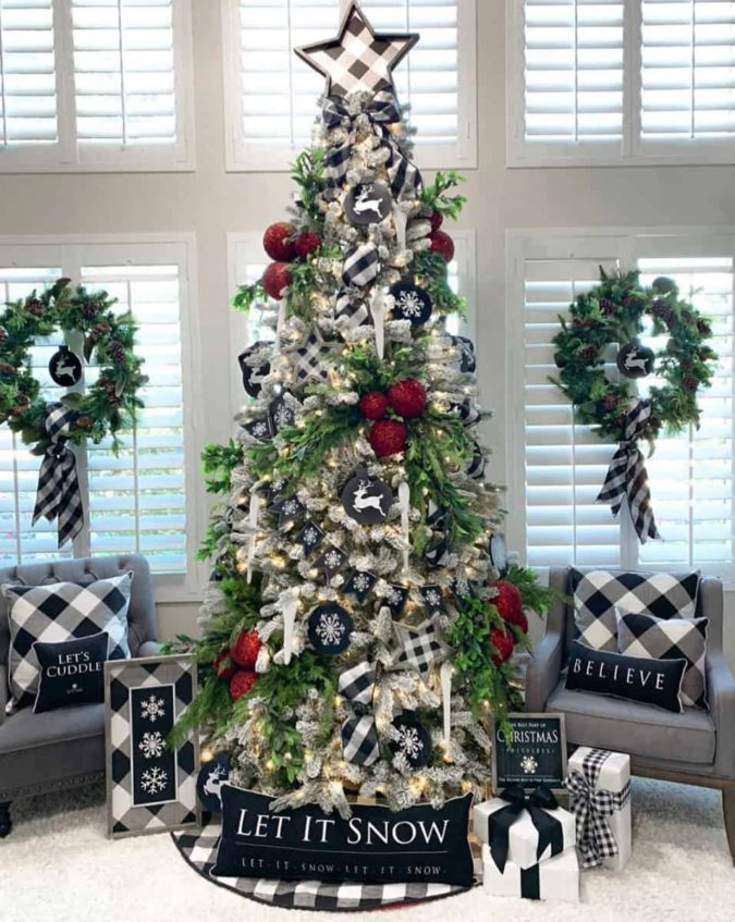 Christmas-tree.-3-675x847 Master Christmas Tree Decoration by Simple Tips and 50+ Ideas