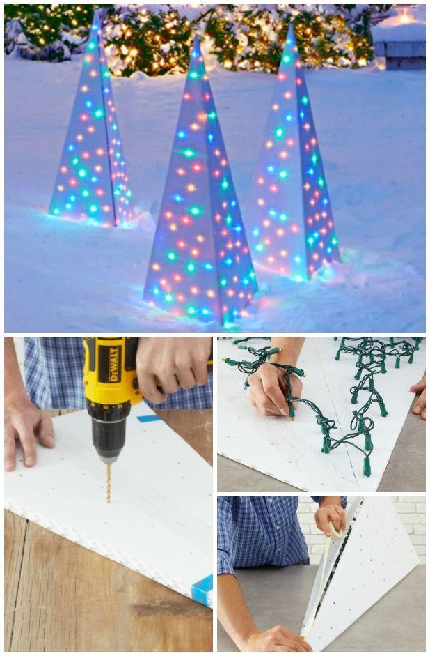 DIY-Christmas-lighting-3 70+ Impressive Christmas Decorations to Do Yourself in 2021