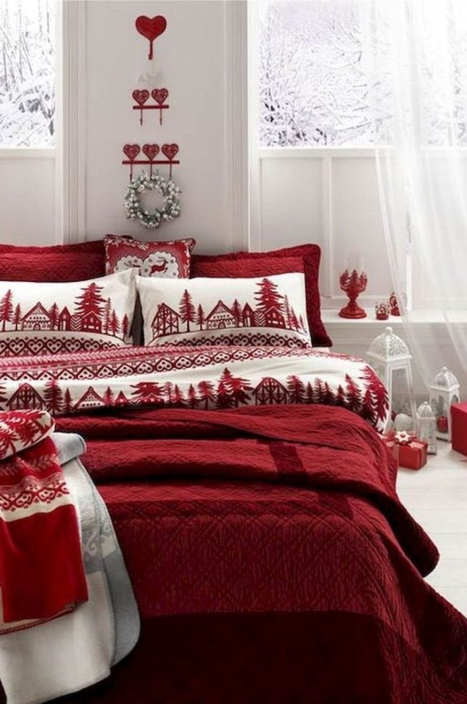 Guest-Room....-675x1016 50+ Guest Room Christmas Decorations – Can You Make It Before Christmas Arriving?
