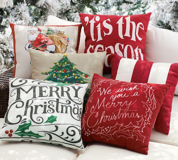 Pillows-Cushions.-6-675x608 50+ Guest Room Christmas Decorations – Can You Make It Before Christmas Arriving?