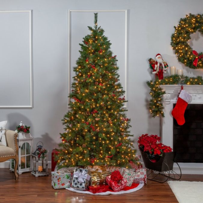Pine-Artificial-Christmas-Tree-675x675 Master Christmas Tree Decoration by Simple Tips and 50+ Ideas