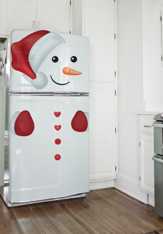 Snowman-Refrigerator-1-675x969 70+ Brilliant Ideas for This Year Christmas Decoration