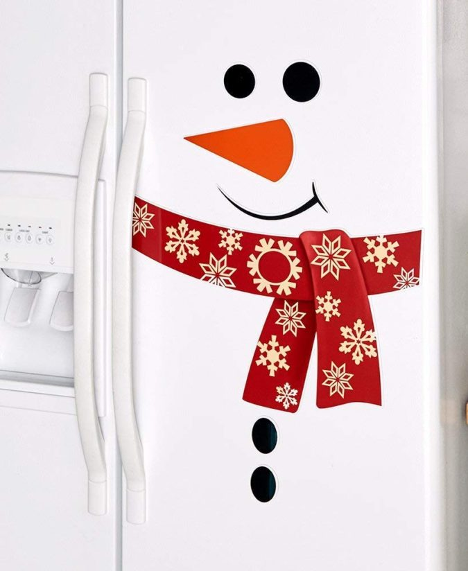 Snowman-Refrigerator-675x824 70+ Brilliant Ideas for This Year Christmas Decoration