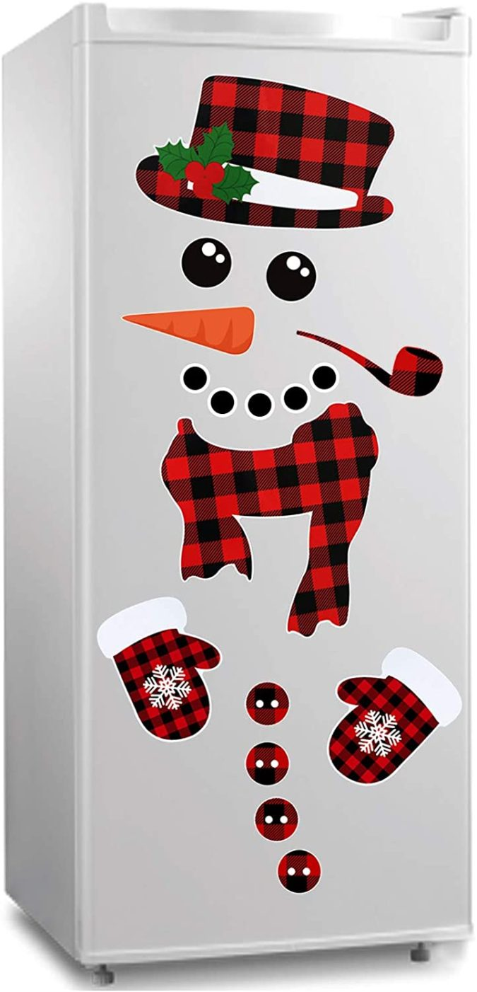 Snowman-Refrigerator.-675x1402 70+ Brilliant Ideas for This Year Christmas Decoration