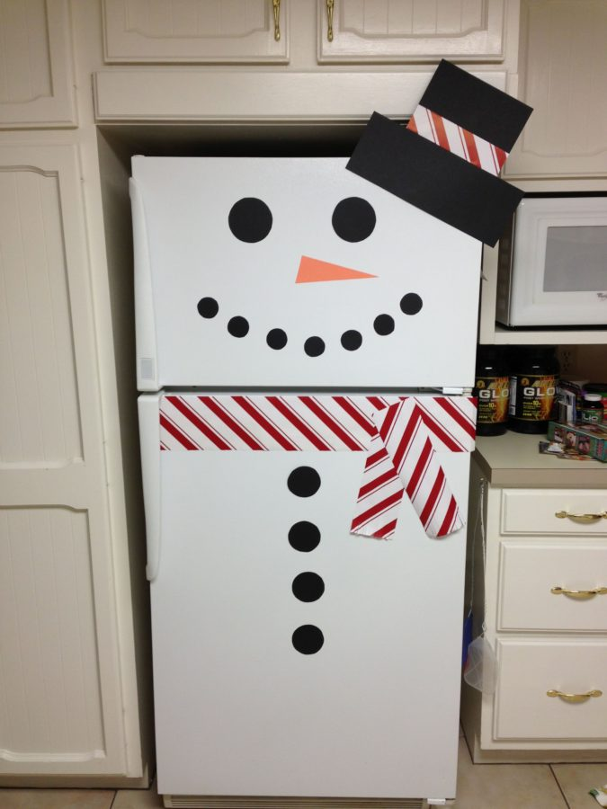 Snowman-Refrigerator..-675x900 70+ Brilliant Ideas for This Year Christmas Decoration