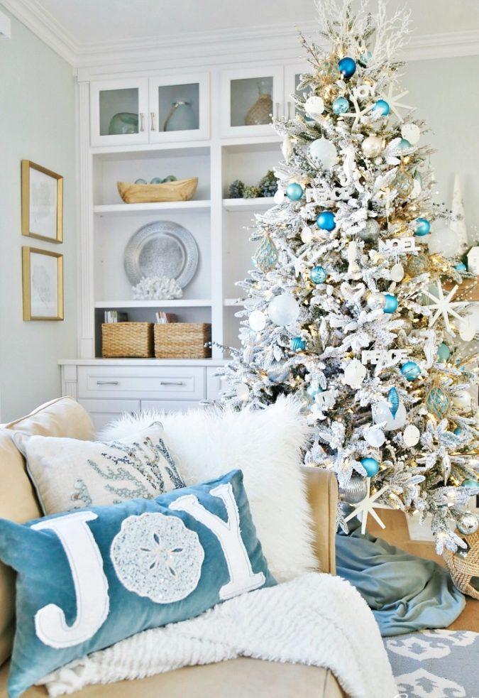coastal-decoration-idea-2-675x983 Give Your Home a New Festive Christmas with +90 Themes & Ideas