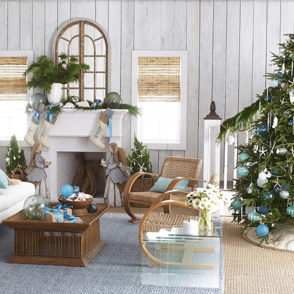 coastal-decoration-idea. Give Your Home a New Festive Christmas with +90 Themes & Ideas