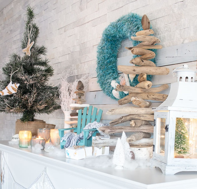 coastal-decoration.-4 Give Your Home a New Festive Christmas with +90 Themes & Ideas