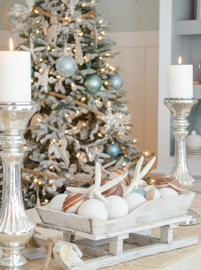 coastal-decoration..-4-675x905 Give Your Home a New Festive Christmas with +90 Themes & Ideas