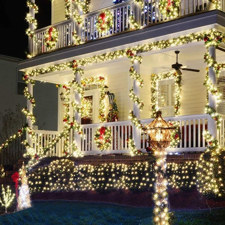 colored-decorations-outdoors.. How to Bring Joy to Your Home at This Christmas Season