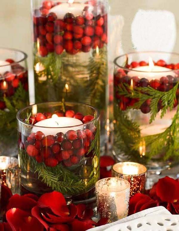 colorful-centerpiece-1 70+ Impressive Christmas Decorations to Do Yourself in 2021