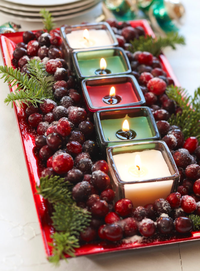 colorful-centerpiece-2-675x913 70+ Impressive Christmas Decorations to Do Yourself in 2021