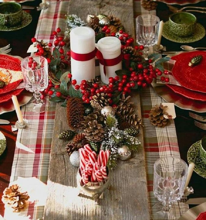 colorful-centerpiece-3-675x723 70+ Impressive Christmas Decorations to Do Yourself in 2021
