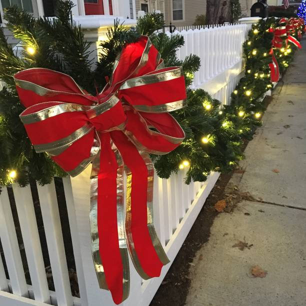 fence-lighting 70+ Impressive Christmas Decorations to Do Yourself in 2021