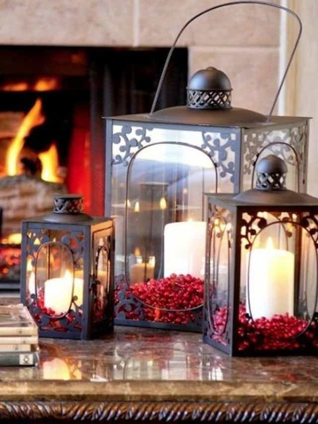 lanterns.-4 70+ Brilliant Ideas for This Year Christmas Decoration