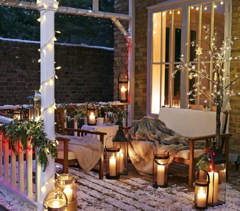 outdoors-lighting.. 70+ Impressive Christmas Decorations to Do Yourself in 2021