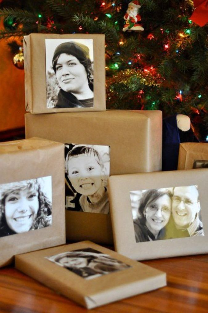 photos-on-gifts-1-675x1017 70+ Brilliant Ideas for This Year Christmas Decoration