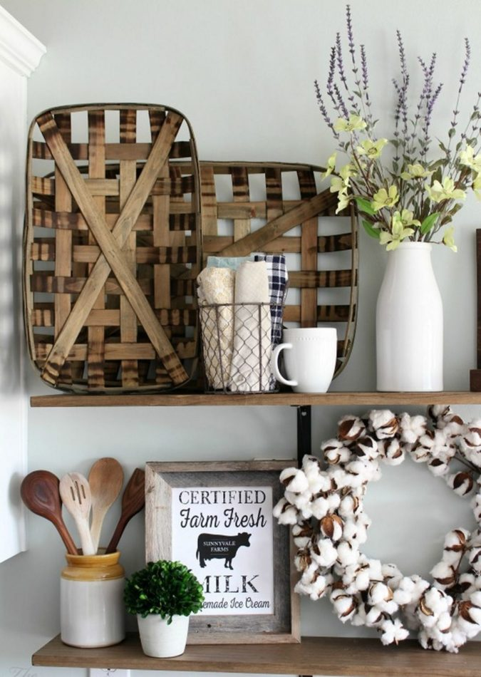 vintage-tobacco-basket-1-675x950 60+Untraditional Christmas Decorations to Transform Your Home Look This Year