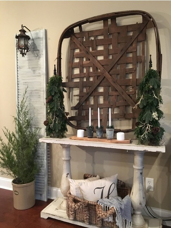 vintage-tobacco-basket-2 60+Untraditional Christmas Decorations to Transform Your Home Look This Year