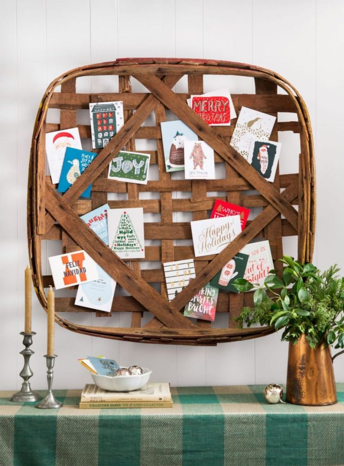 vintage-tobacco-basket-675x914 60+Untraditional Christmas Decorations to Transform Your Home Look This Year