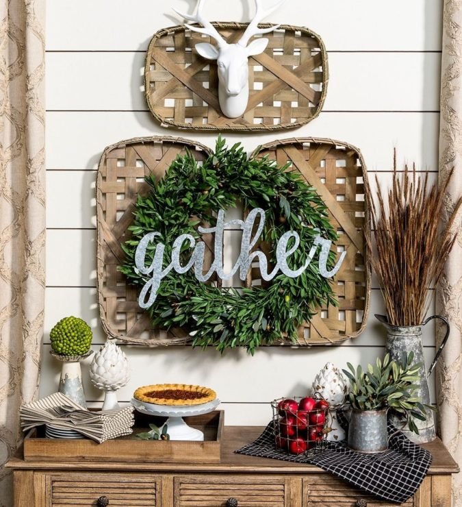 vintage-tobacco-basket.-1-675x740 60+Untraditional Christmas Decorations to Transform Your Home Look This Year