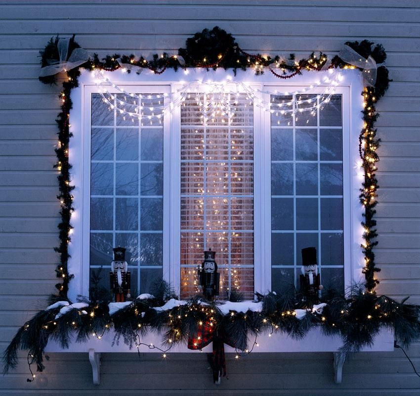 window-light-decoration Let Your Outdoor Area Twinkle by This Year Christmas Lights Decorations