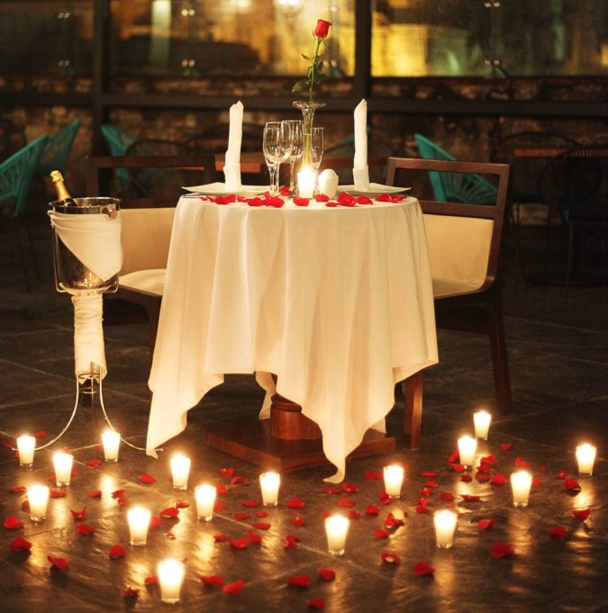 Candles.-675x681 70+ Hottest Marriage Anniversary Decoration Ideas at Home