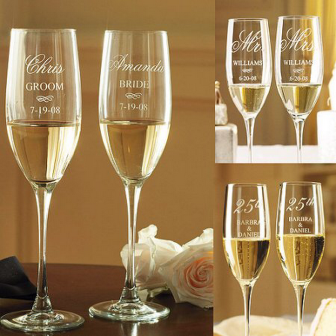Customized-glass-of-champagne-675x675 70+ Hottest Marriage Anniversary Decoration Ideas at Home