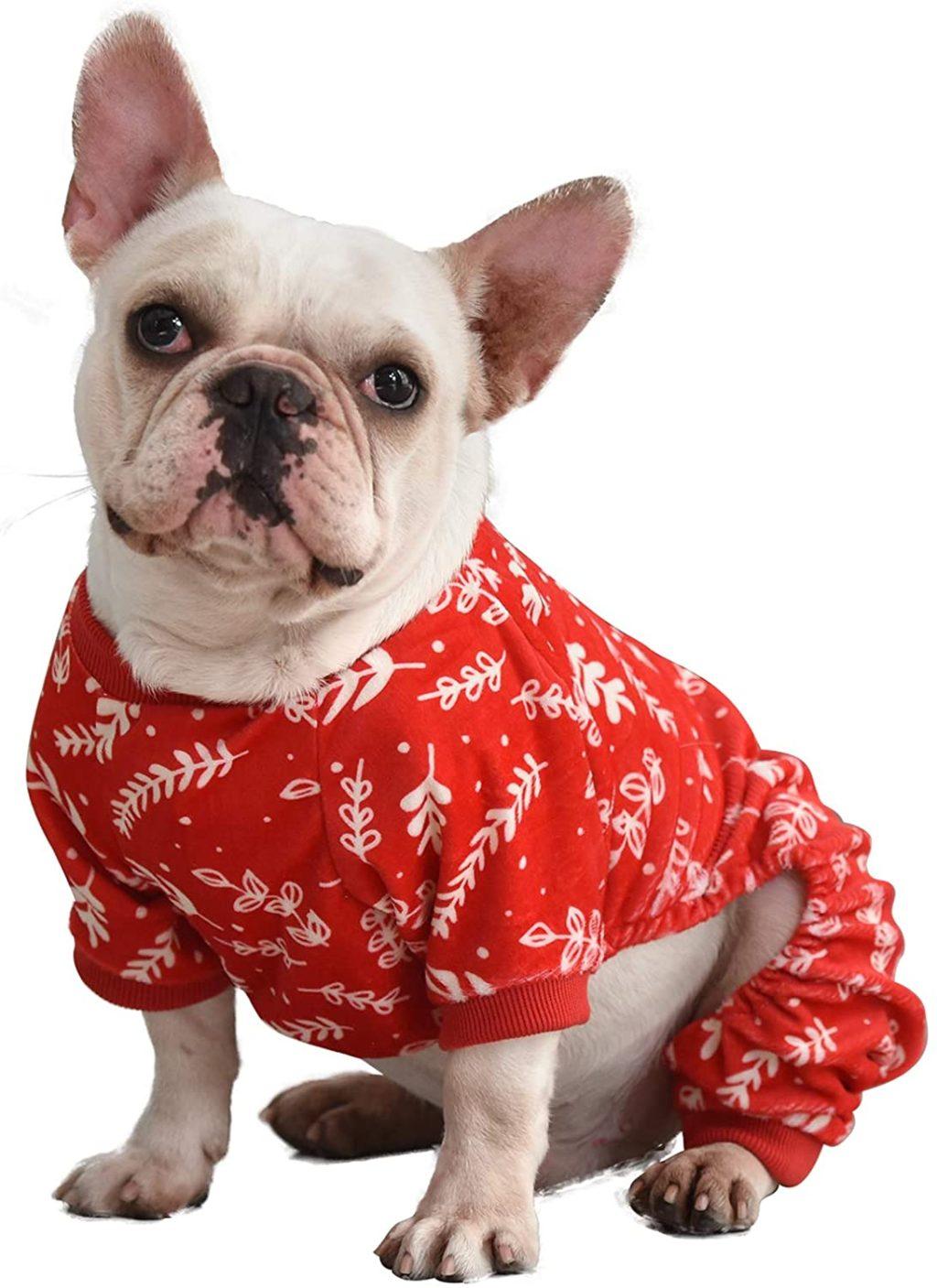 CuteBone-Christmas-Dog-Pajamas-Jumpsuit-1024x1407 Cutest 10 Pajamas for Dogs on Amazon in 2021/2022