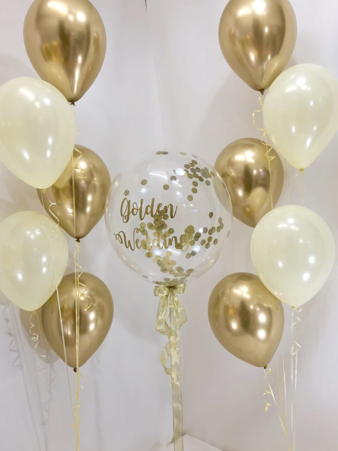 Gold-Balloon-Bouquet-5-675x900 70+ Hottest Marriage Anniversary Decoration Ideas at Home